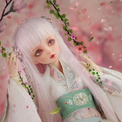 1/4 Bjd Peach Spirit Fullset/White Snow