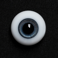 14mm Blue&Grey Glass Eyeballs