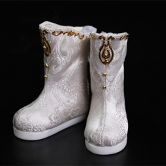 1/6 baby doll satin white boots