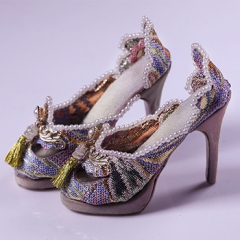 1/3 Youth Pearl Brocade high heel Shoes - Light snow(20th solar term)