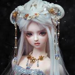 1/3 Youth Ancient White Wig - Light snow(20th solar term)