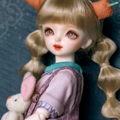 1/6 BB blond pig tails hairstyle wig
